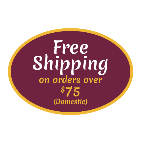 All domestic orders over $75 ships for free within the 50 states!